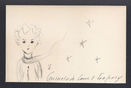 Consuela Comtesse de Saint Exupéry OriginalSigned Drawing